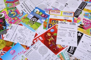Colouring, word searches and dot-to-dot are back!